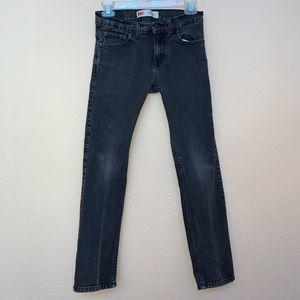 ✅ Levi's 511 SLIM FIT Gray Jean 14 Regular 27 x 27